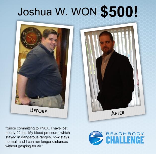 Josh Lost Lost 90 lb With P90X