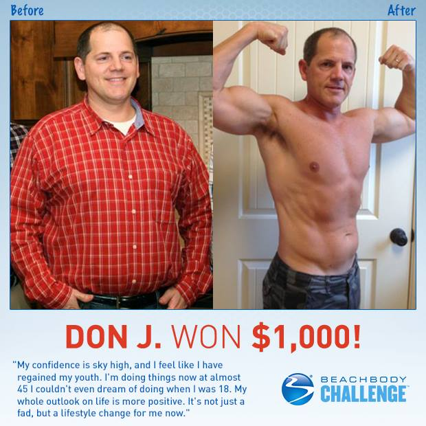 Don J Won $1000 with P90X