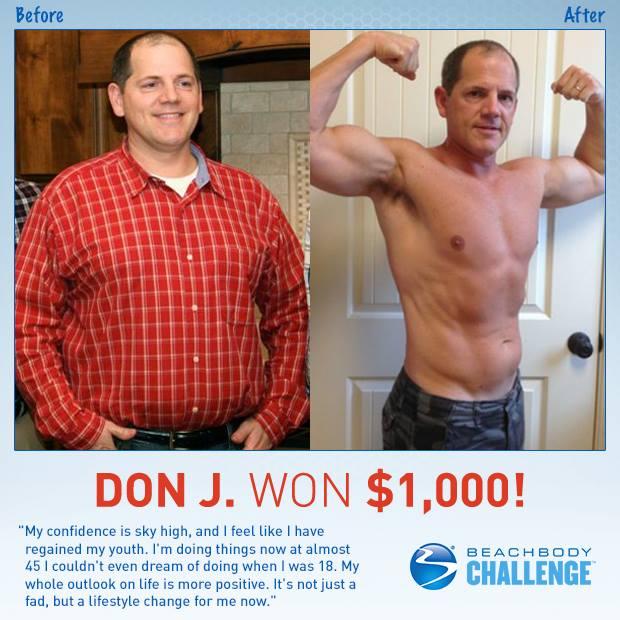 Don J Won $1000 with P90X