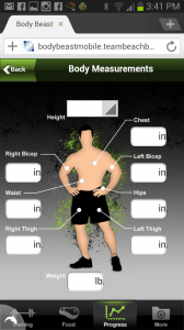 body beast mobile app measurements