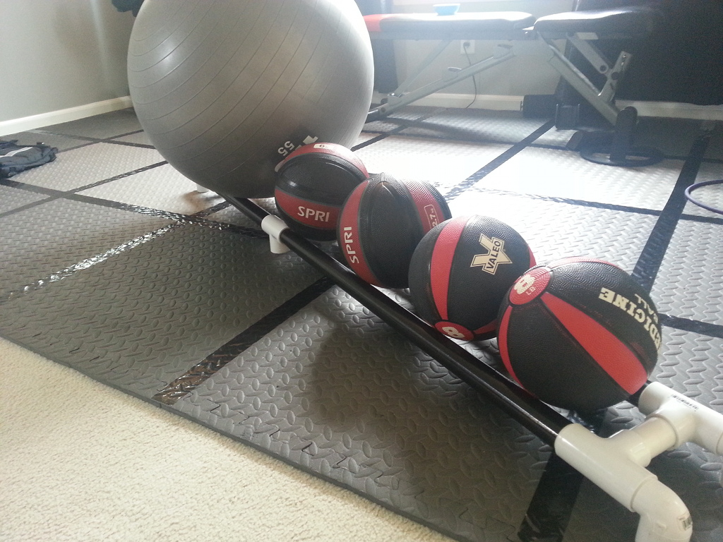 PVC Medicine Ball Rack - Loaded