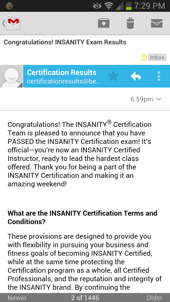 Insanity certification what to expect my experience your insanity certification results 1betcityfo Choice Image