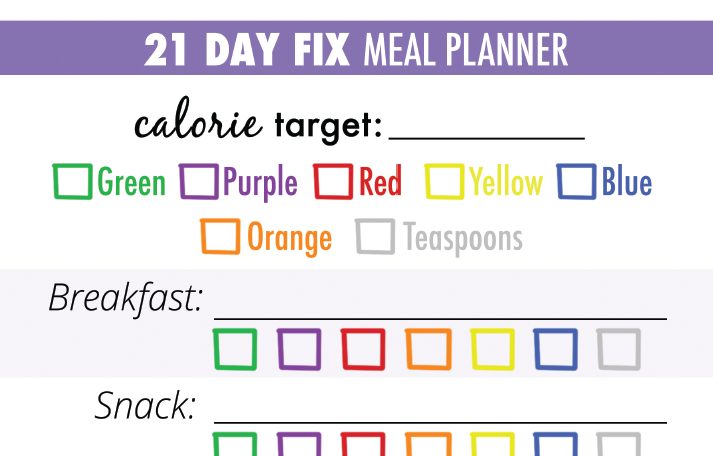 21 day fix food chart food