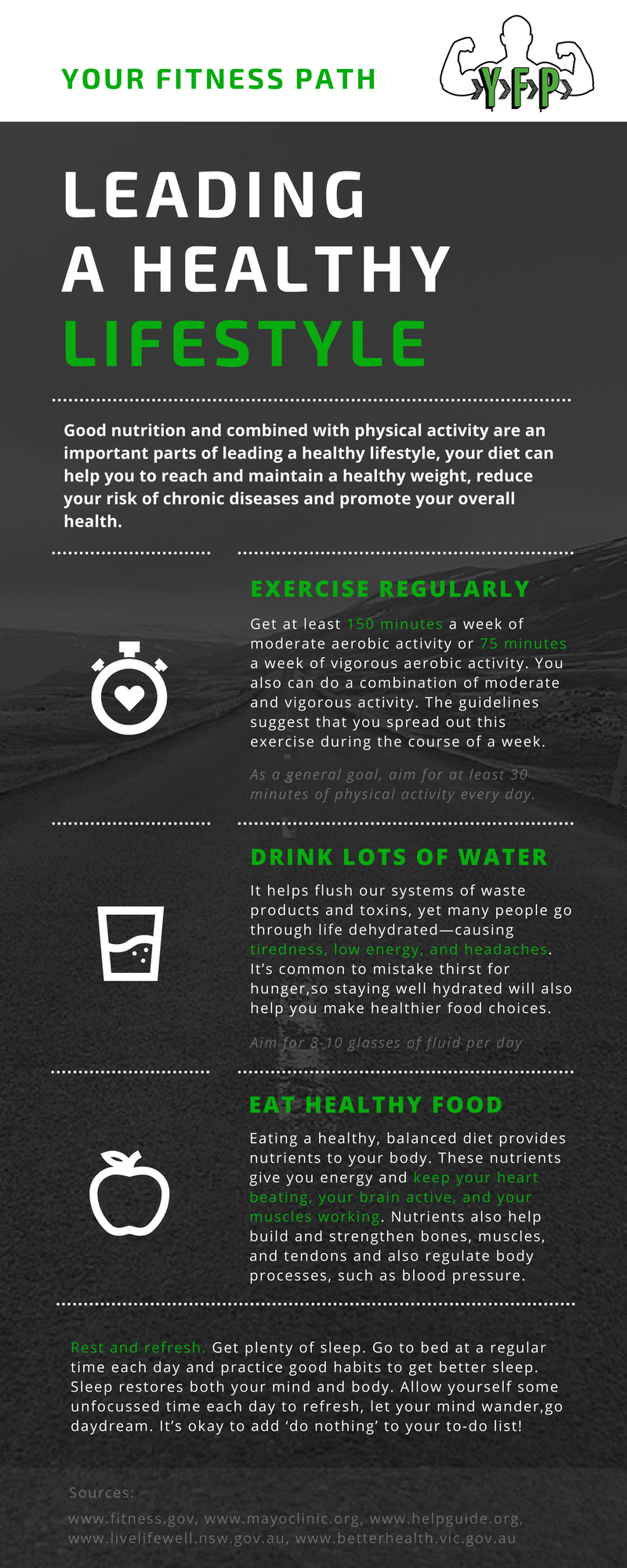 3 Keys to Leading a Healthy Lifestyle - Infographic