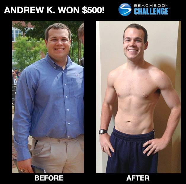 Andrew K. Won $500 with P90X!