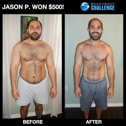 Jason P. Won $500 with P90X and Shakeology