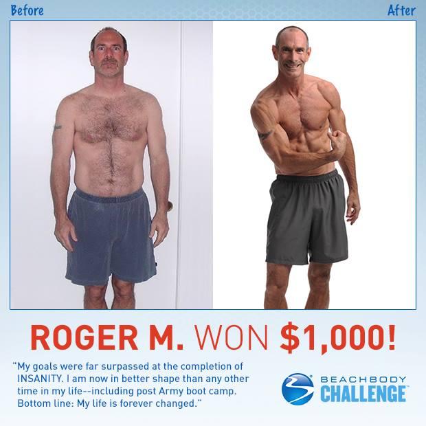 Roger - $1000 Beachbody Challenge Winner