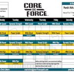 Core de Force Workout Calendar