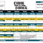 Core de Force Workout Calendar