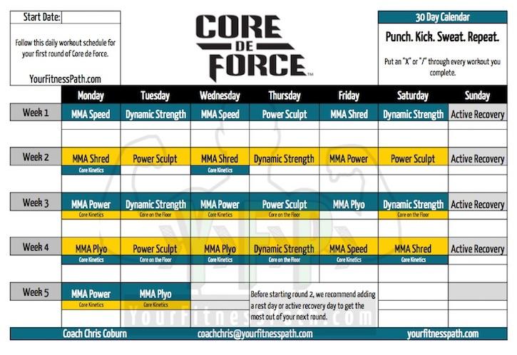 core-de-force-calendar-base-kit