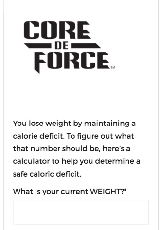 Core de Force Ration Plan Calculator