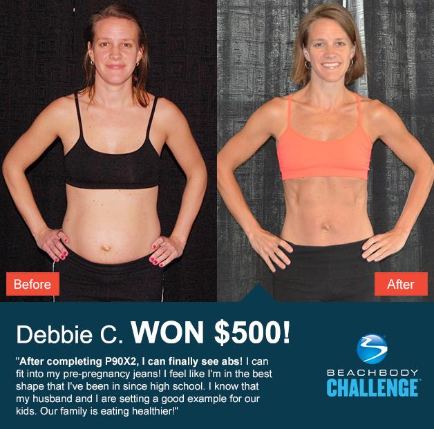 Debbie Won 500 With P90X2