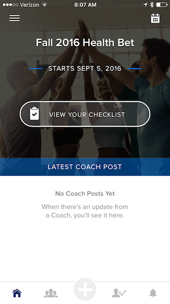 Fall Health Bet - Challenge Tracker App