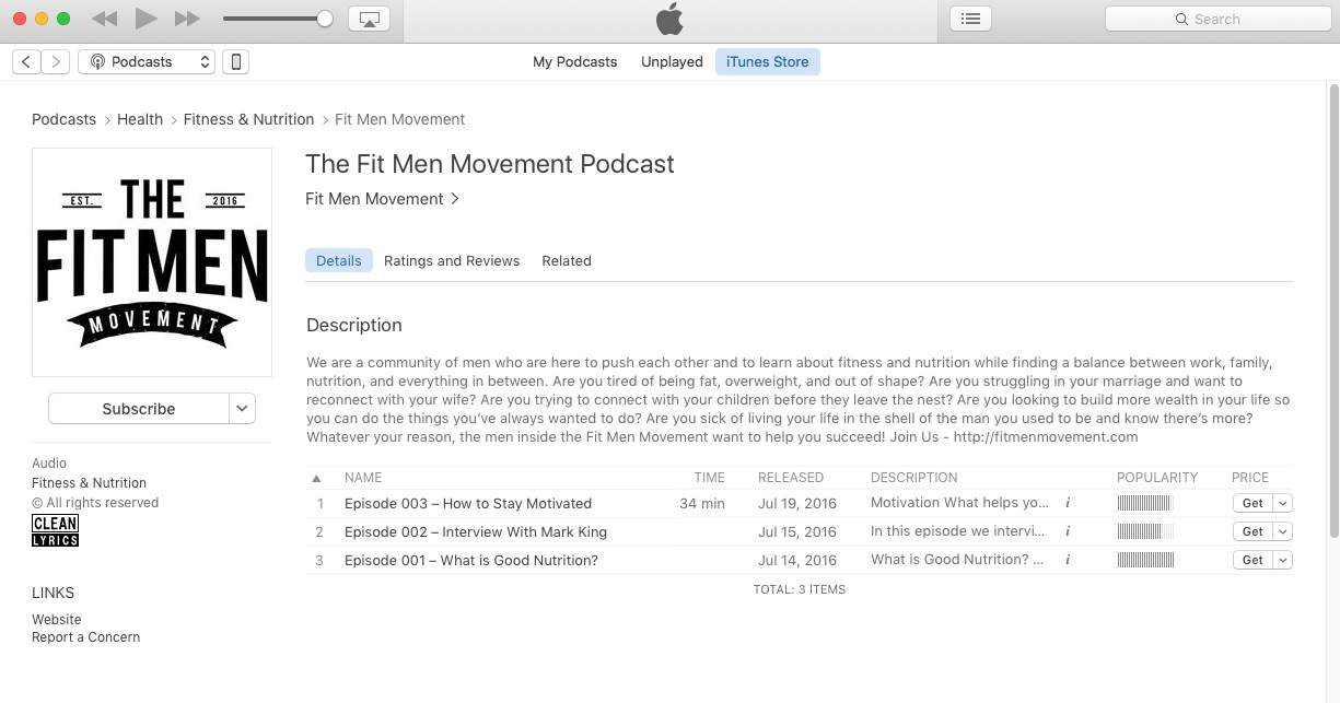 Fit Men Movement Podcast - iTunes