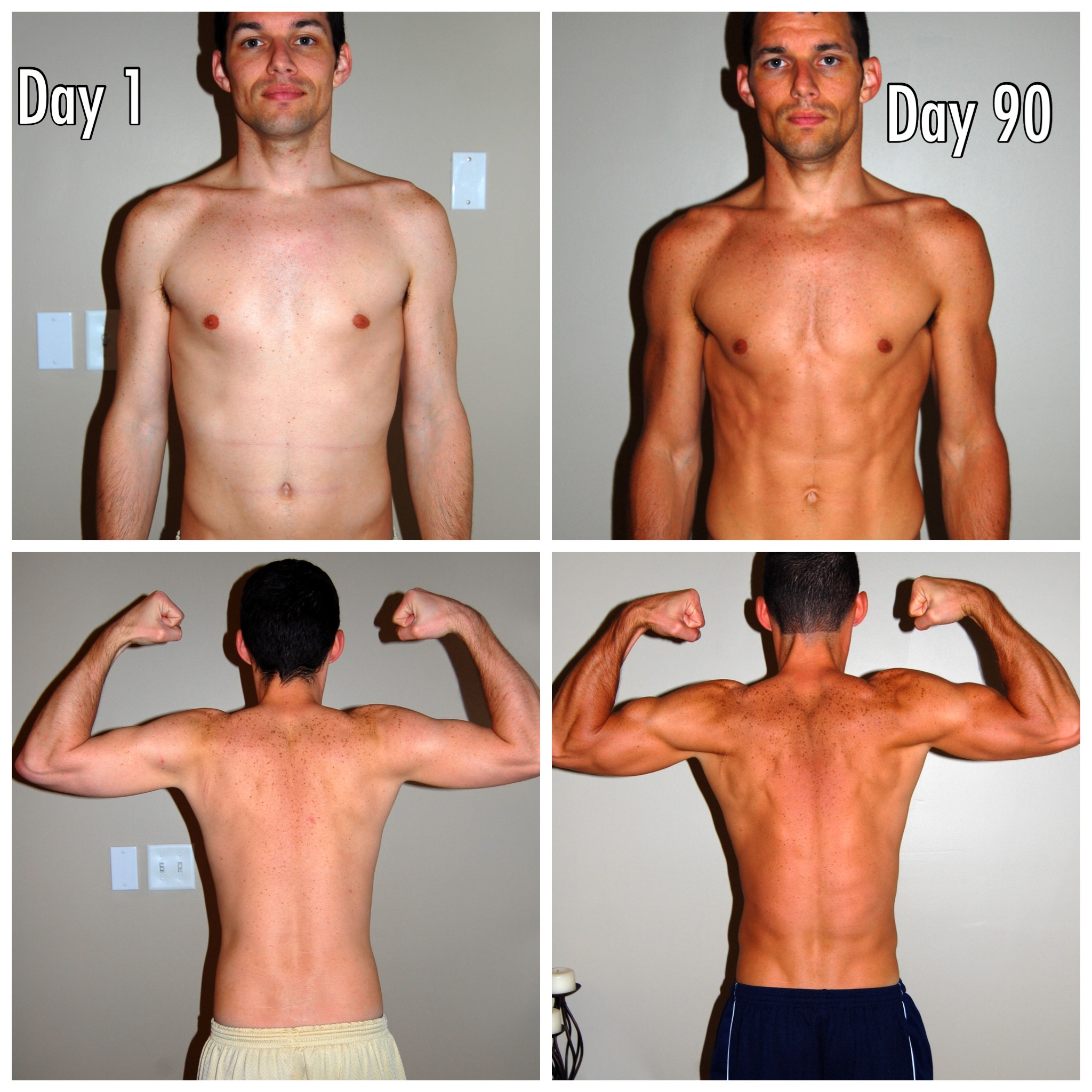Day 1 - Day 90 - P90X Results
