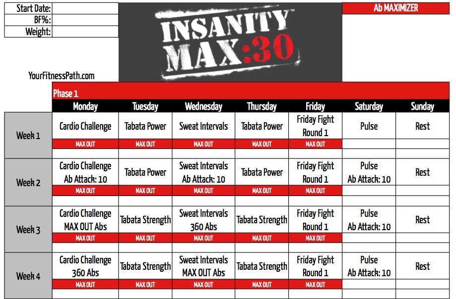 related posts insanity max 30 all 11 workouts revealed insanity