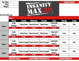 Insanity MAX:30 Workout Calendar When Should I Eat Carbs? Insanity MAX ...