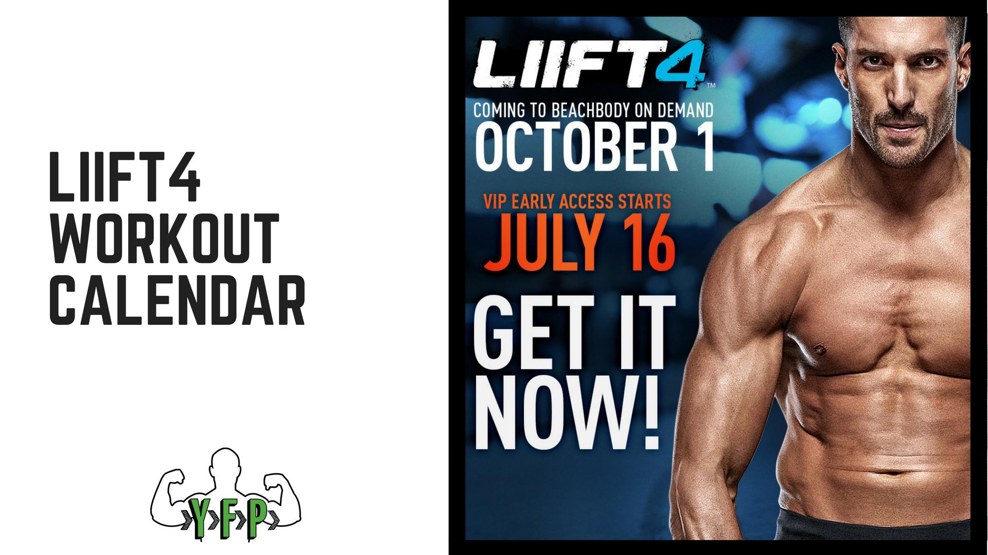 LIIFT4 - Workout Calendar