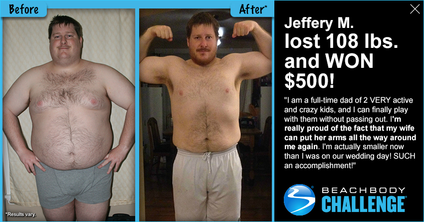 Jeffrey M - Beachbody Challenge Winner
