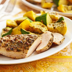 Pesto Chicken with Summer Squash