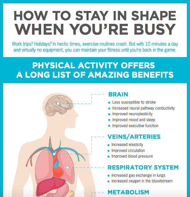 how to stay in shape for busy professionals