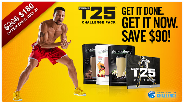 Focus T25 Challenge Pack Savings!